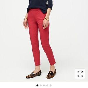 ~J.Crew~ 'Martie' side-zip BiStretch Cotton Pants